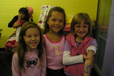 Katie, Alanna & Sydney at Katie's birthday party.