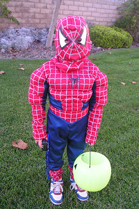 Christopher Kane is dressed as Spiderman for Halloween.