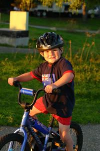 Christopher enjoying riding his bike around El Capitan State Beach.