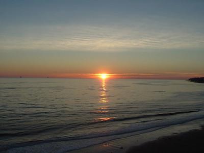 Sunset at El Capitan State Beach.