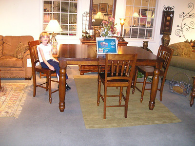 Shopping for a casual dining table. This one is counter height.