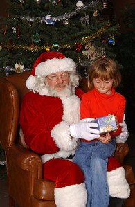 Sydney getting a picture with Santa during the NFESC Christmas Party.