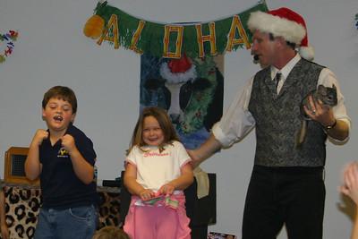 Zandler enjoying the NFESC Christmas Party