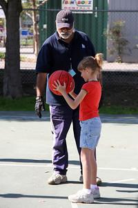 Sydney at basketball practice