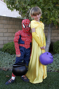 Halloween 2005. Christopher was dressed up as Spider Man. Sydney was dressed up as Belle from Beauty and the Beast.