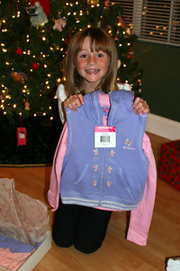 Sydney showing off her track suit, which was a gift from Pappa.