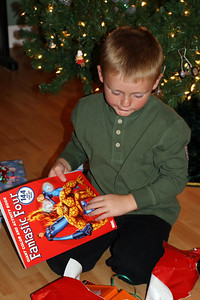 Christopher really likes the Fantistic Four activity book that Sydney gave him for Christmas.