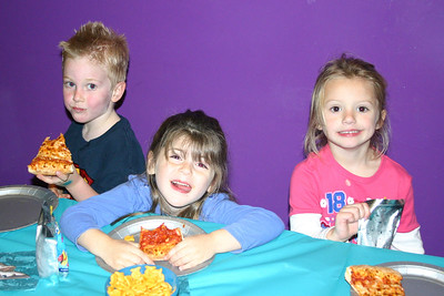 Christopher's 5th Birthday Party. Hailey and Brookie.