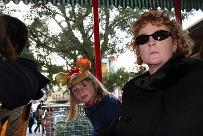 Sydney and Kathy on the Disneyland Railroad.