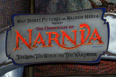 Characters from The Chronicles of Narnia were seen throughout the day next to Sleeping Beauty Castle.