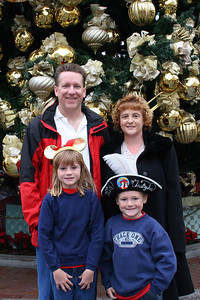 Pat, Kathy, Sydney and Christopher at Disneyland for our traditional Christmas Day visit.