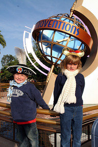 Christopher and Sydney outside of Innoventions, which has five zones of shows, virtual reality and multi-media games for the whole family.