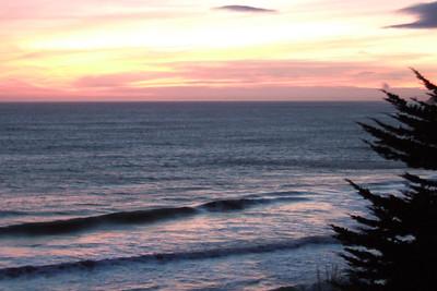 A beautiful sunset at El Capitan State Beach.