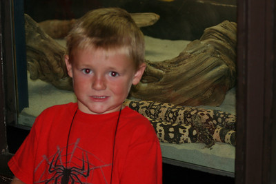 Christopher and Gila monsters at the Los Angeles Zoo