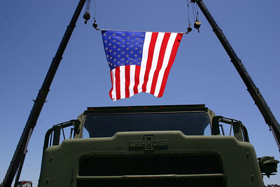 Front grill of a MTVR at Seabee Days