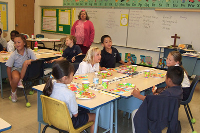 Celebrating Sierra's birthday in her classroom at St. John's Lutheran School.