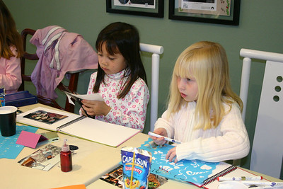 For her 7th birthday party, Sydney had a bunch of friends over to scrapbook. Sierra and Samantha.