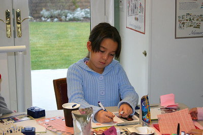 For her 7th birthday party, Sydney had a bunch of friends over to scrapbook. Taylor.