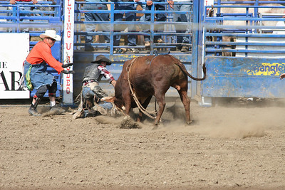 Bull riding at the 2005 Ventura County Fair.
