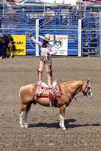 Roping demonstration at the 2005 Ventura County Fair.