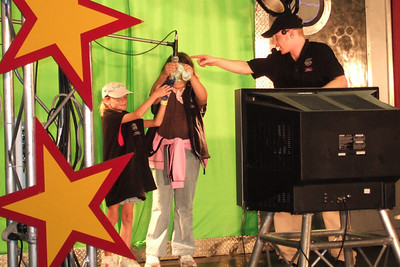 Sydney was picked for audience participation at one of the kids shows at the 2005 Ventura County Fair.