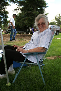 Lila Roth enjoying the shade during Valley Heritage Days celebration
