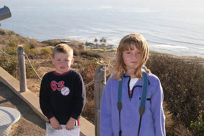 "Christopher and Sydney at Cabrillo National Monument overlooking the ""new"" lighthouse."