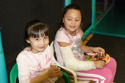 Sierra and Alanna at Christopher's 6th birthday party at the Ventura YMCA.