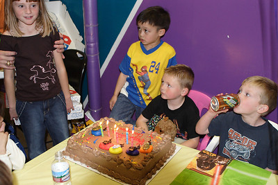 Sydney, Eli, Christopher and Jake at Christopher's 6th birthday party at the Ventura YMCA.
