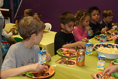 Vlad, Zaid, Samantha, Jaison and Jake R. at Christopher's 6th birthday party at the Ventura YMCA.