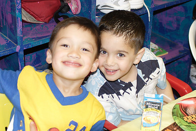 Eli and Omar at Christopher's 6th birthday party at the Ventura YMCA.