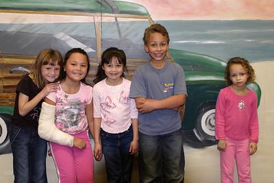 Sydney, Alanna, Sierra, Sevryn and Samantha at Christopher's 6th birthday party at the Ventura YMCA.