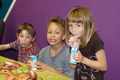 Timothy, Sevryn and Sydney at Christopher's 6th birthday party at the Ventura YMCA.