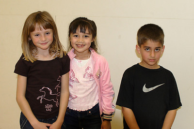 Sydney, Sierra and Zaid at Christopher's 6th birthday party at the Ventura YMCA.