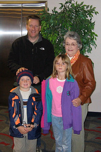 Grandma, Pat, Christopher and Sydney enjoying a tour of the Anheuser-Busch brewery in Fort Collins