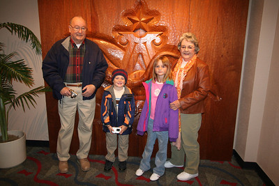 Grandma and Papa with Sydney and Christopher during a tour of the Anheuser-Busch brewery in Fort Collins.