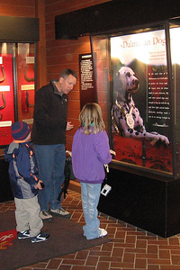 Pat, Christopher and Sydney checking out the Clydesdale Hamlet at the Anheuser-Busch brewery in Fort Collins.