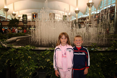 Sydney and Christopher in Denver International Airport just after we got off of our plane.