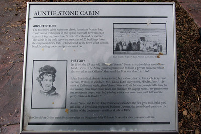 Auntie Stone Cabin, which was built in 1864.
