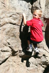 Christopher enjoying the Redwood Creek Challenge Trail at Disney's California Adventure Park.