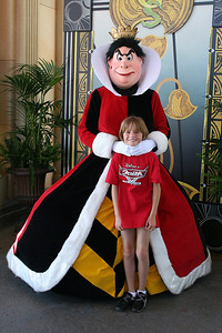 Sydney and the Queen of Hearts at Disney's California Adventure Park.