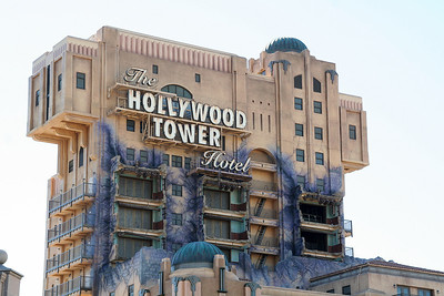 The Twilight Zone Tower of Terror at Disney's California Adventure. Dare to scale the heights by checking into the once-glamorous, and now vacant, luxury Hollywood Tower Hotel! Explore the mysteries of what happened that fateful night when lightning struck, then plunge 13 stories into the most thrilling recesses of The Twilight Zone.