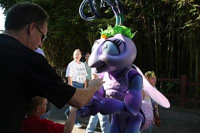 Christopher getting Princess Atta's autograph in Disney's California Adventure Park.