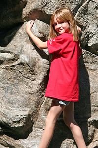 Sydney enjoying the Redwood Creek Challenge Trail at Disney's California Adventure Park.