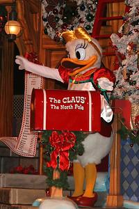 """""""A Christmas Fantasy"""" Parade at Disneyland on Christmas Day."""