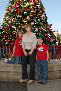 Kathy, Sydney and Christopher at California Adventure on Christmas day.