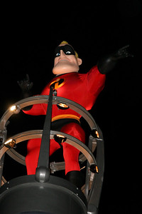 Mr. Incredible from The Incredibles. Disney presents the Pixar Film Pals in Block Party Bash. Get down and groove as Disney's California Adventure Park hosts this rockin' parade.