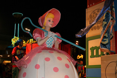 Bo Peep from Toy Story. Disney presents the Pixar Film Pals in Block Party Bash. Get down and groove as Disney's California Adventure Park hosts this rockin' parade.
