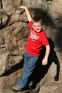 Christopher hanging out in the Redwood Creek Challenge Trail area of California Adventure.