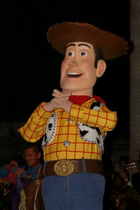 Woody from Toy Story. Disney presents the Pixar Film Pals in Block Party Bash. Get down and groove as Disney's California Adventure Park hosts this rockin' parade.